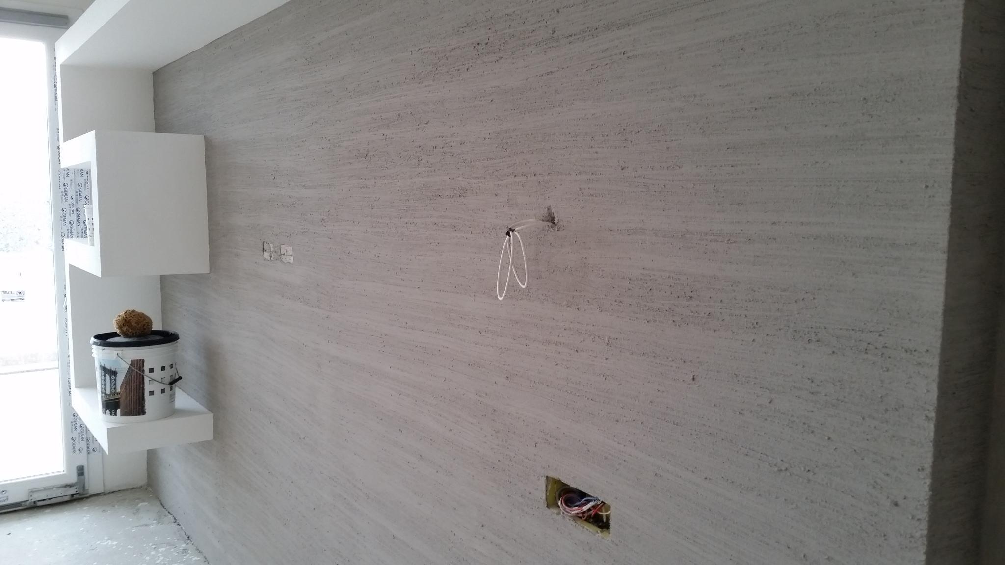 Pareti Bagno In Cartongesso parete decorata con mensola in cartongesso (2) - k systems